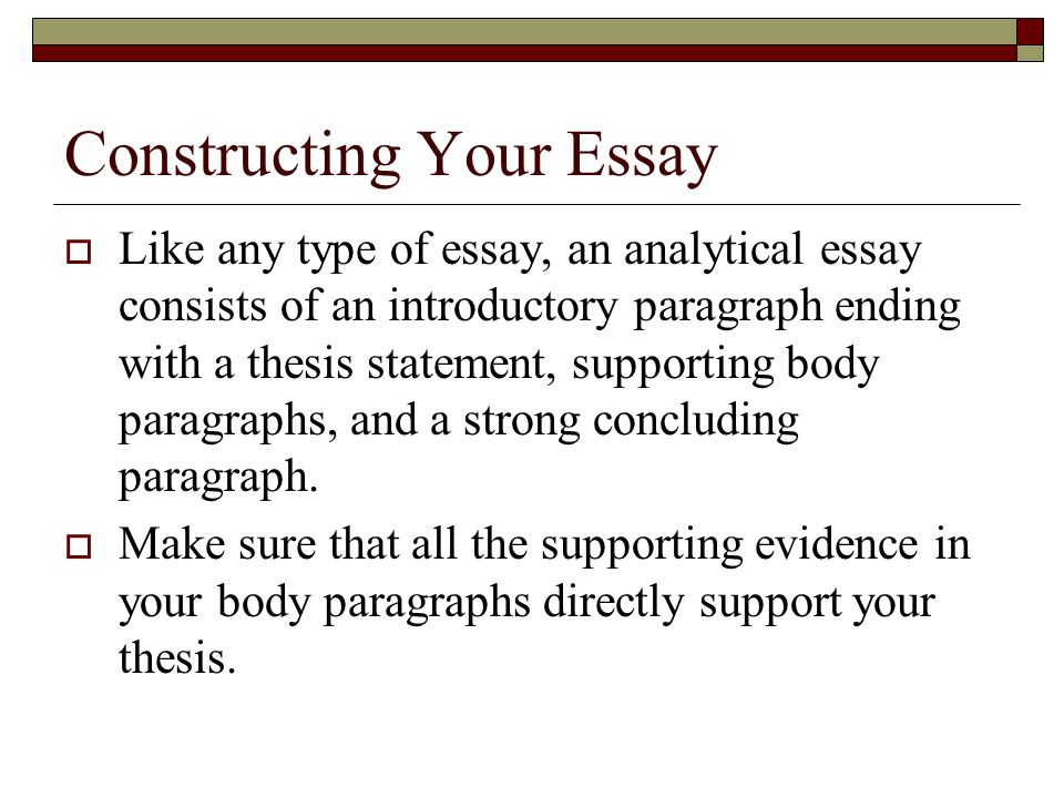 make thesis statement analytical essay