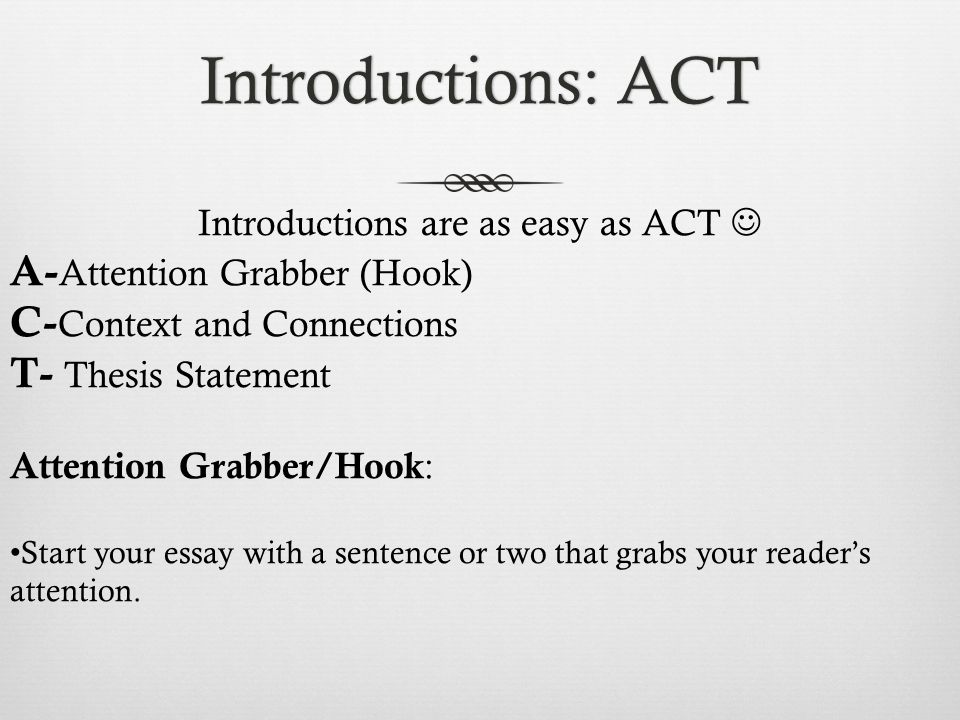 grabber essay examples of essay hooks hook c lead c attention  essay writing mini workshop ppt 2 introductions