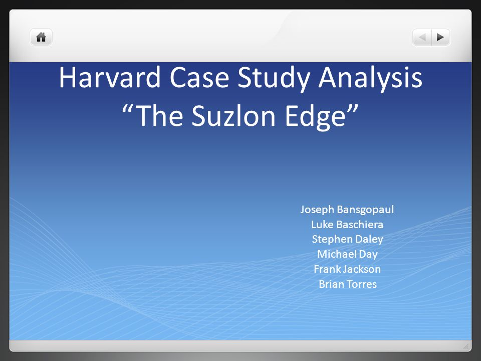 case analysis studies harvard