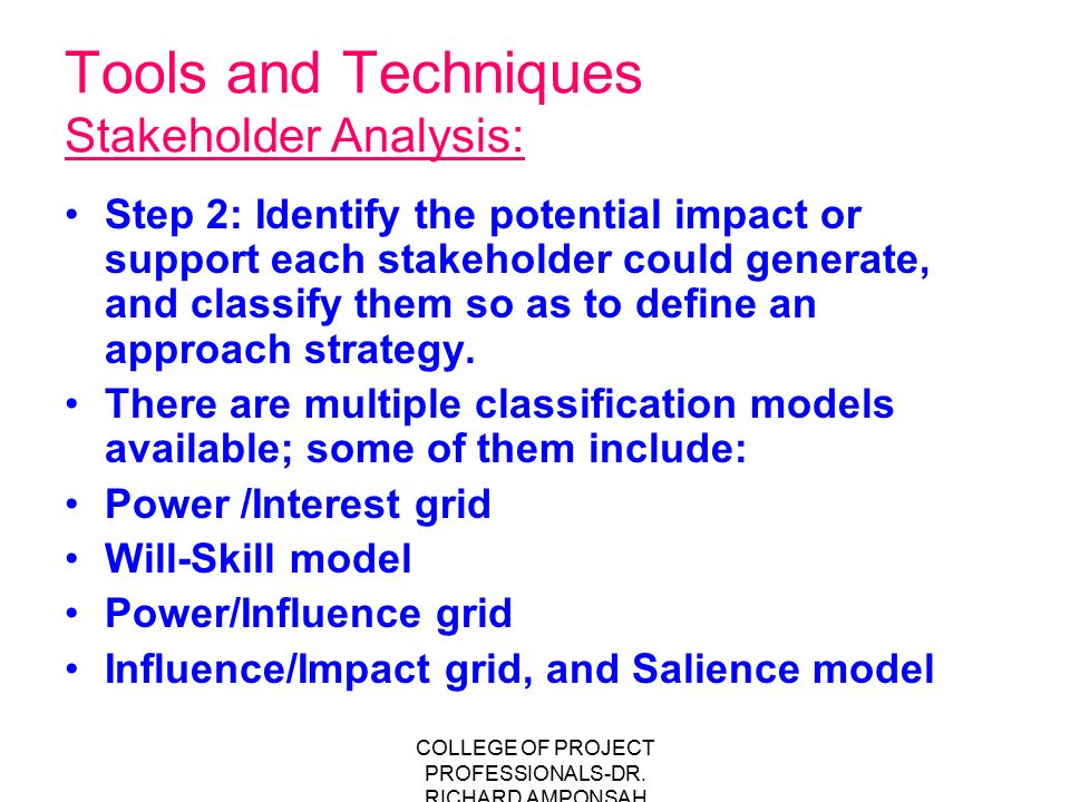 stakeholders identification analysis and management ppt
