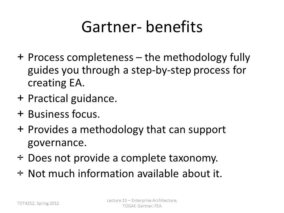 Lecture 15 U2013 Enterprise Architecture, TOGAF, Gartner, FEA