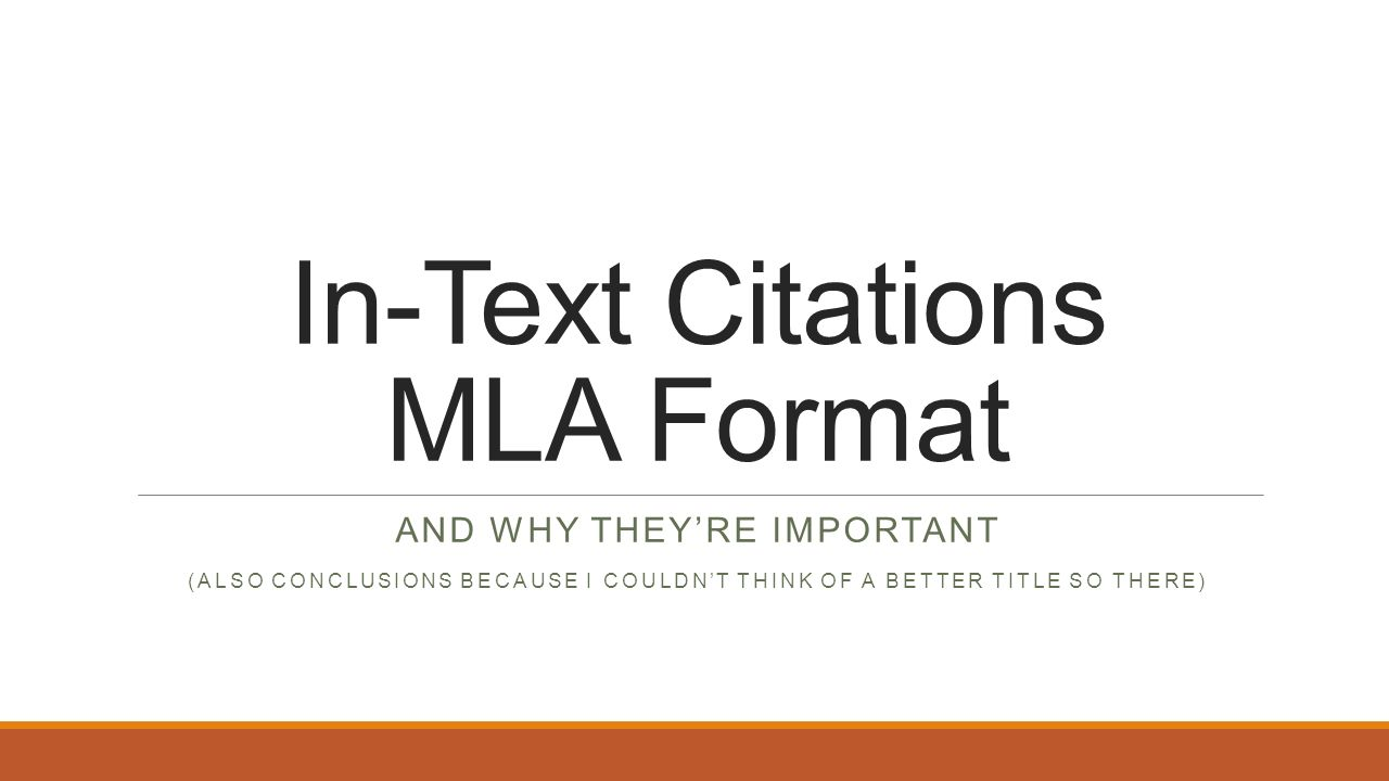 "why is mla format important Mla 8 citation guide how to cite edited and translated books in mla format james a ""citation: why is it important"" mendeley journal, vol 4, no 6."