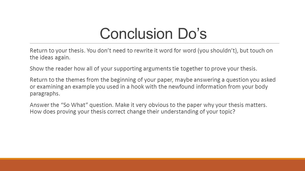 conclusion in a thesis paper