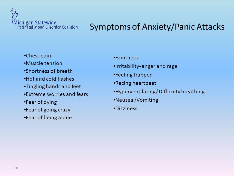 Perinatal mood disorders ppt download for Tingling in hands and feet anxiety