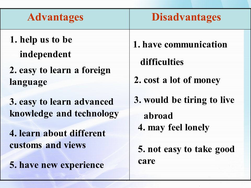 Advantages and disadvantages of learning a foreign language essay