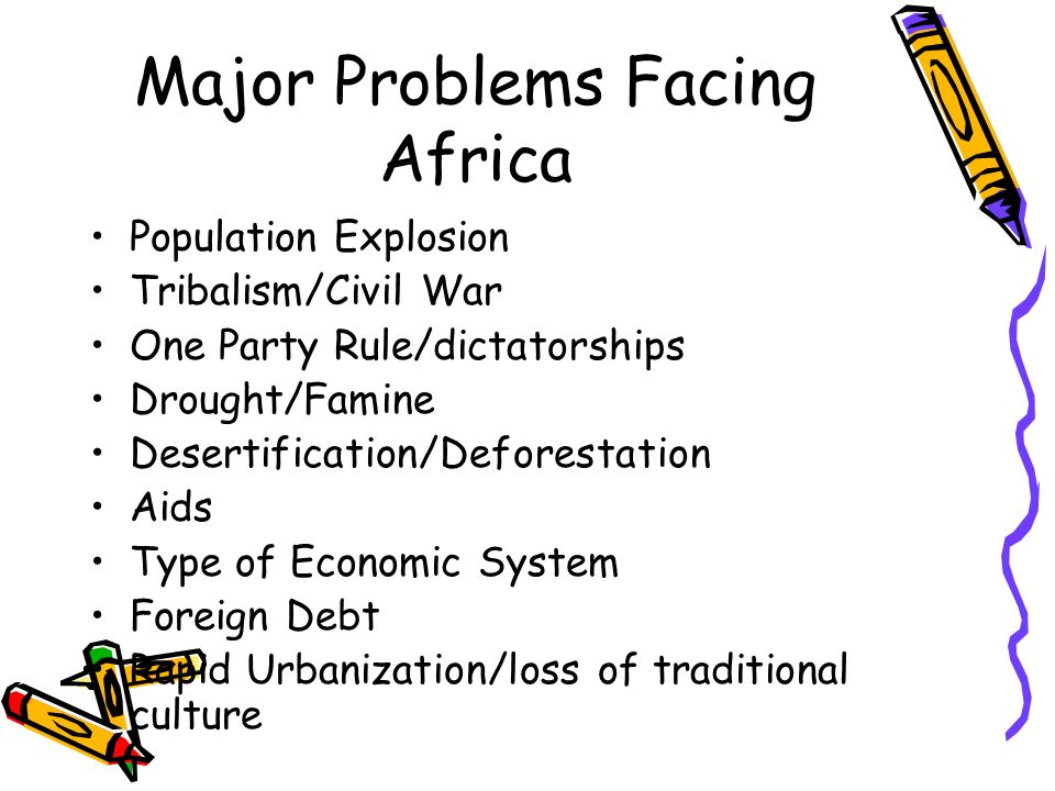 the three major issues of the african people This web dossier on water in africa has been compiled by the library of the african studies centre to coincide with the international conference 'water management issues in africa', organized by the network of african science academies (nasac) in collaboration with the netherlands royal academy of arts and scie.