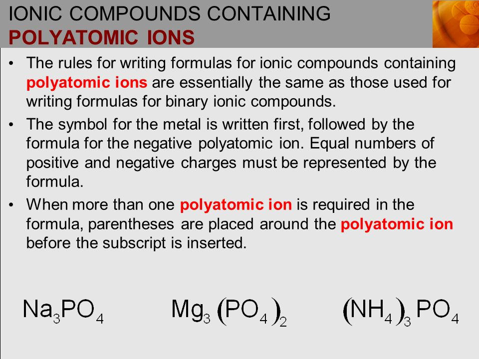 binary compounds containing polyatomic ions redposulfind s blog. Black Bedroom Furniture Sets. Home Design Ideas