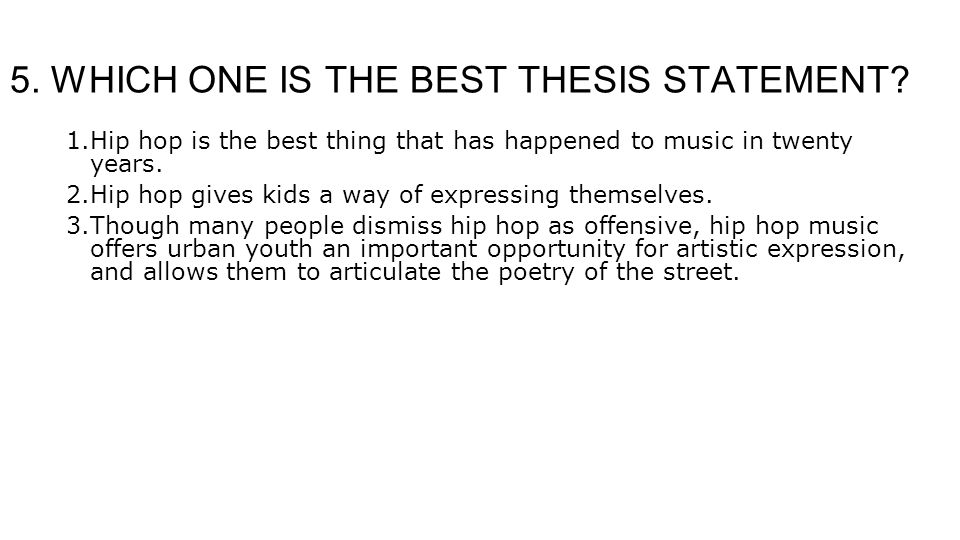 music thesis statements