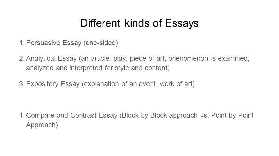 The Block Method on Writing an Essay