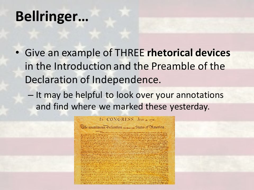 rhetorical analysis essay of the declaration of independence Reflection: for me, the rhetorical analysis essay was in the middle difficulty-wise of the three essays required for ap 11 i found it easier than the argumentative essay yet harder than the synthesis.