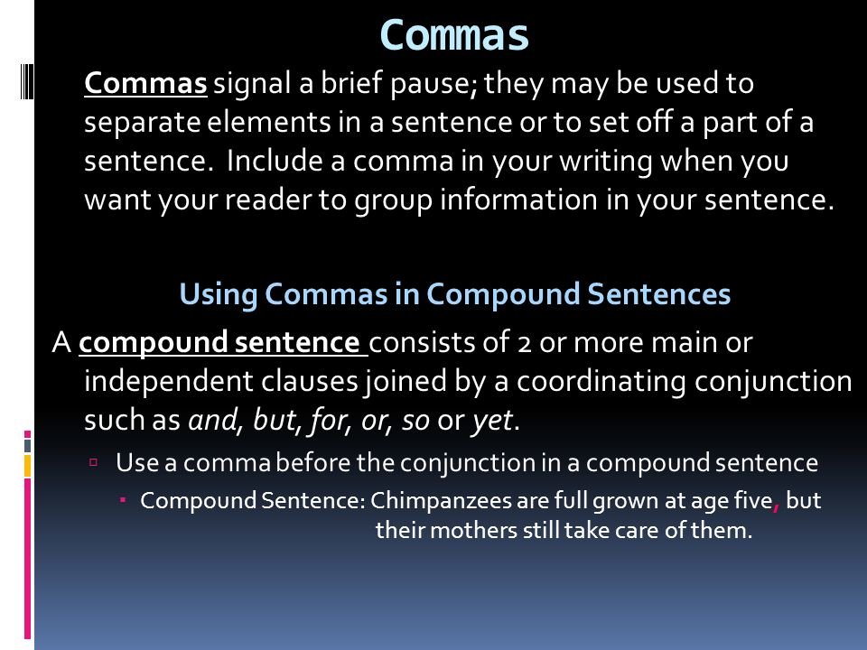 Write a compound sentence using but as your coordinating conjunction