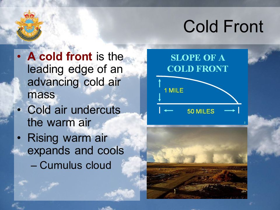Cold Air Mass : Turbulence visibility and fronts ppt video online