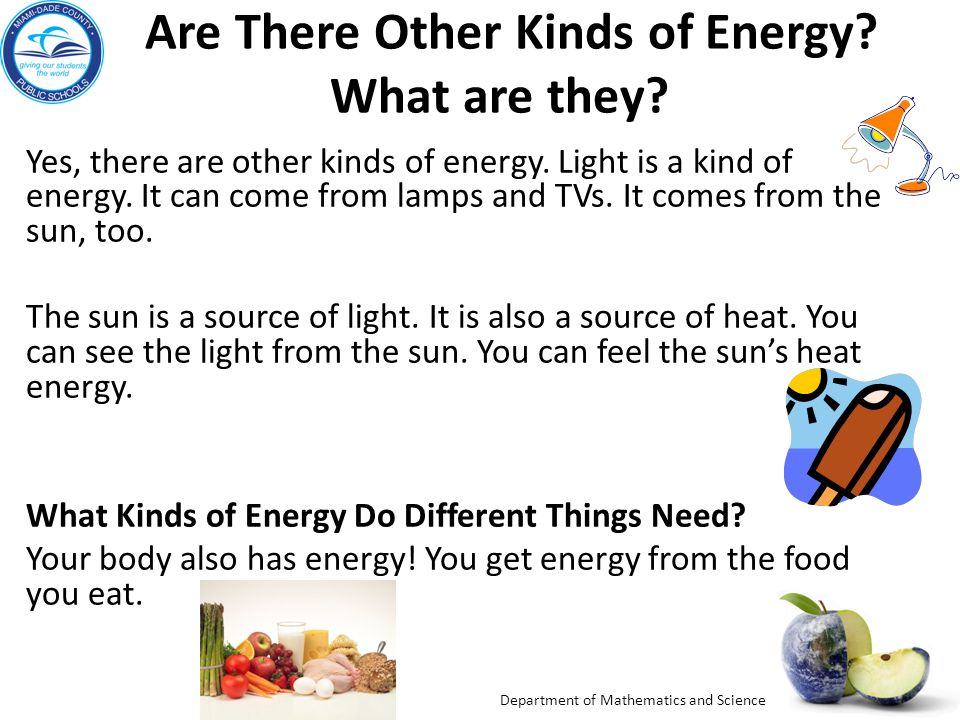 Grade 2 Big Idea 10 Forms Of Energy Energy Sources Ppt