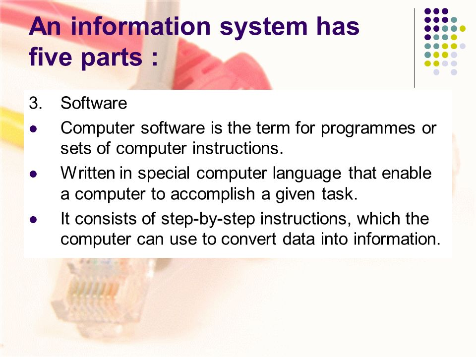 the components of an information system Introduction to database systems: the components of an information system.
