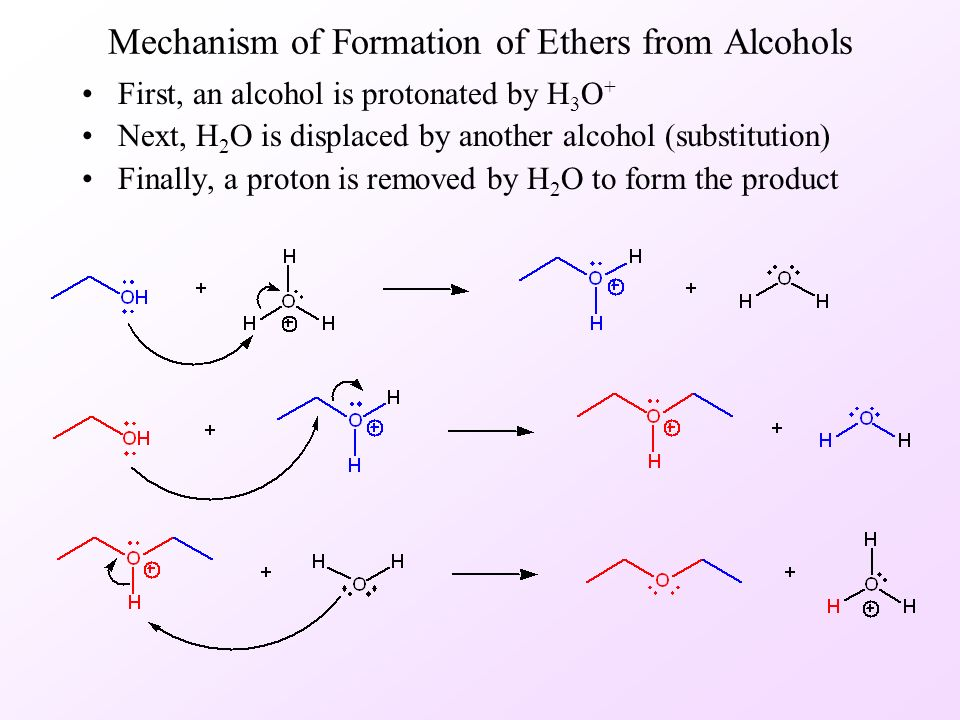 formation of an alkene by alcohol In this experiment an alkene (cyclohexene) will be prepared by dehydration of an  alcohol (cyclohexanol) using an acid catalyst such as phosphoric acid this is.