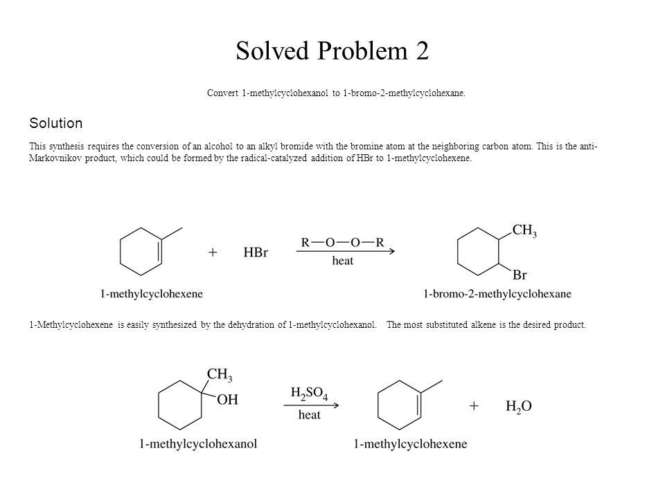 synthesis of 4 methylcyclohexene
