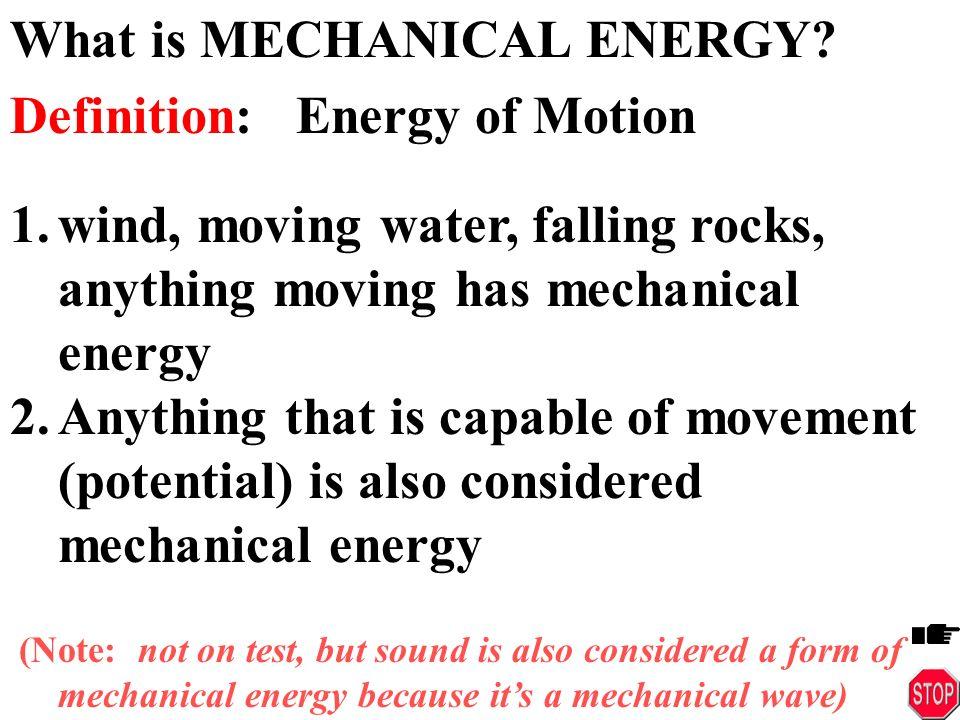 What S Mechanical Energy Ace Energy