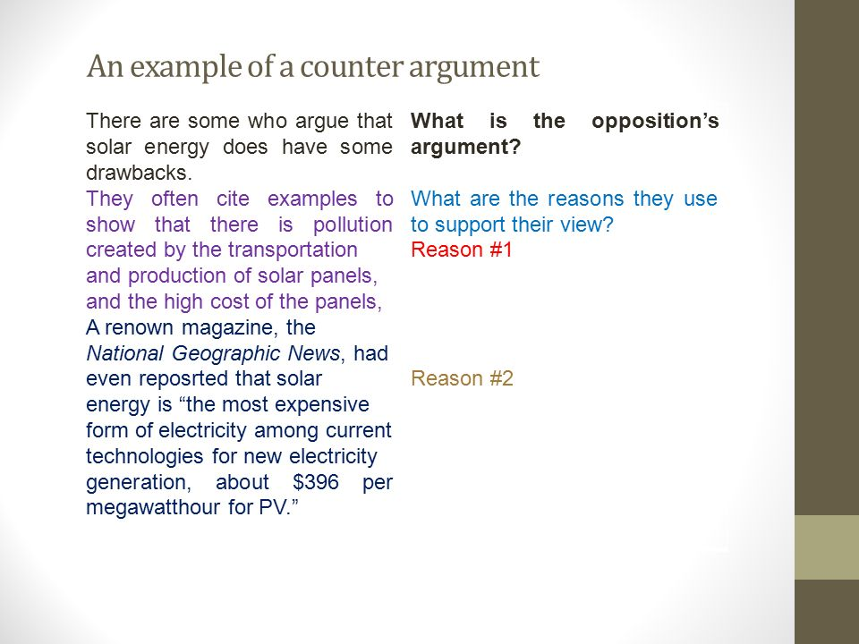 Writing CounterArguments And Rebuttals  Ppt Download