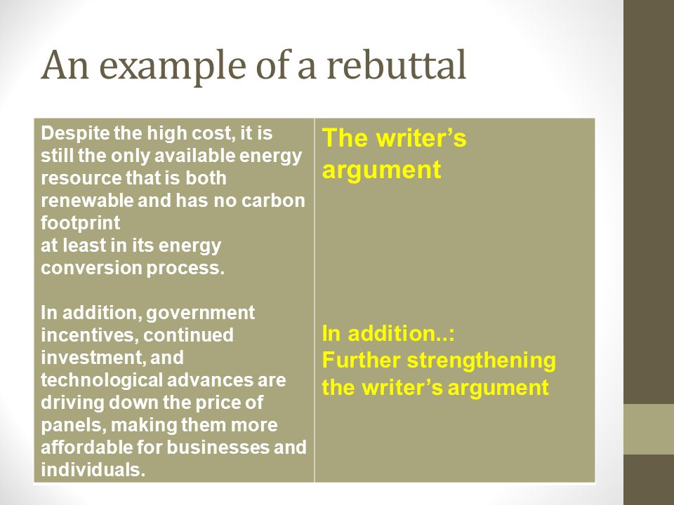 writing a rebuttal A rebuttal letter is an opportunity to convince referees and editors on the quality of one's research work and reassure them that it deserves to be published in their journal here are some important tips for researchers on writing an academic rebuttal letter.