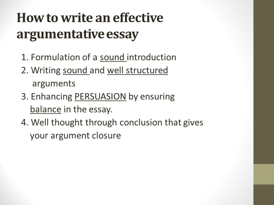 how to write an effective persuasive essay