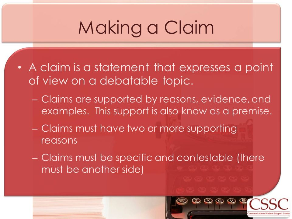 non debatable claim essay To write an argument essay, you'll need to gather evidence and present a well-reasoned argument on a debatable issue  can it be addressed with a yes or no.