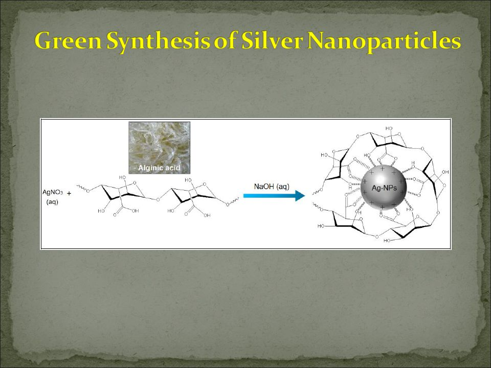 green synthesis of metal nanoparticles using Algae as a source for synthesis of nanoparticles – a the metal nanoparticles in of green synthesis nanoparticles generally depends on.