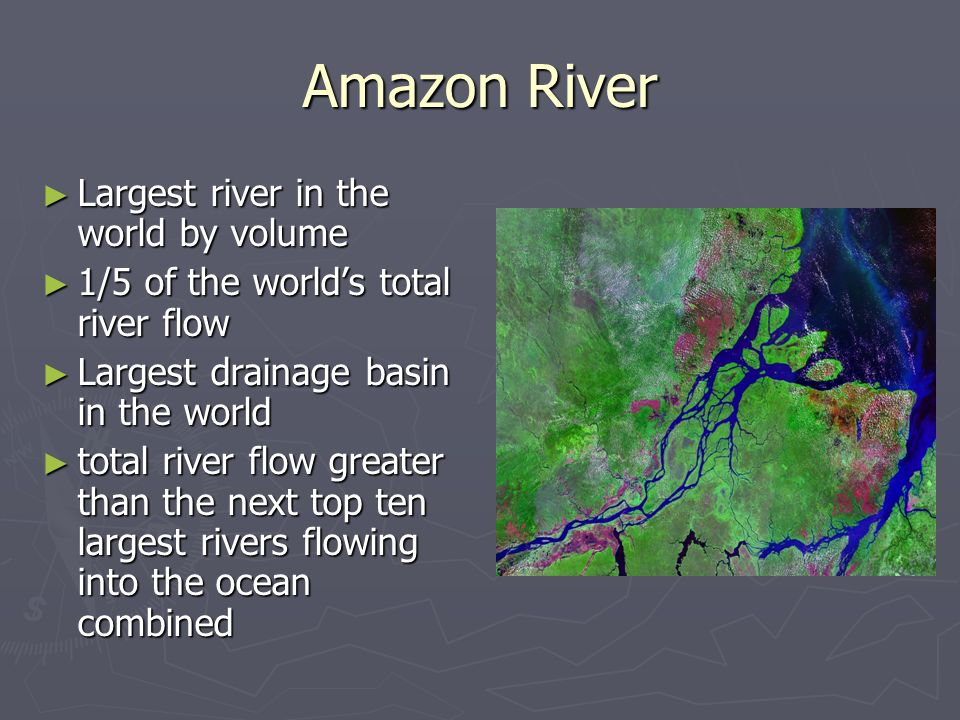 Middle And South America Ppt Video Online Download - 5 largest rivers