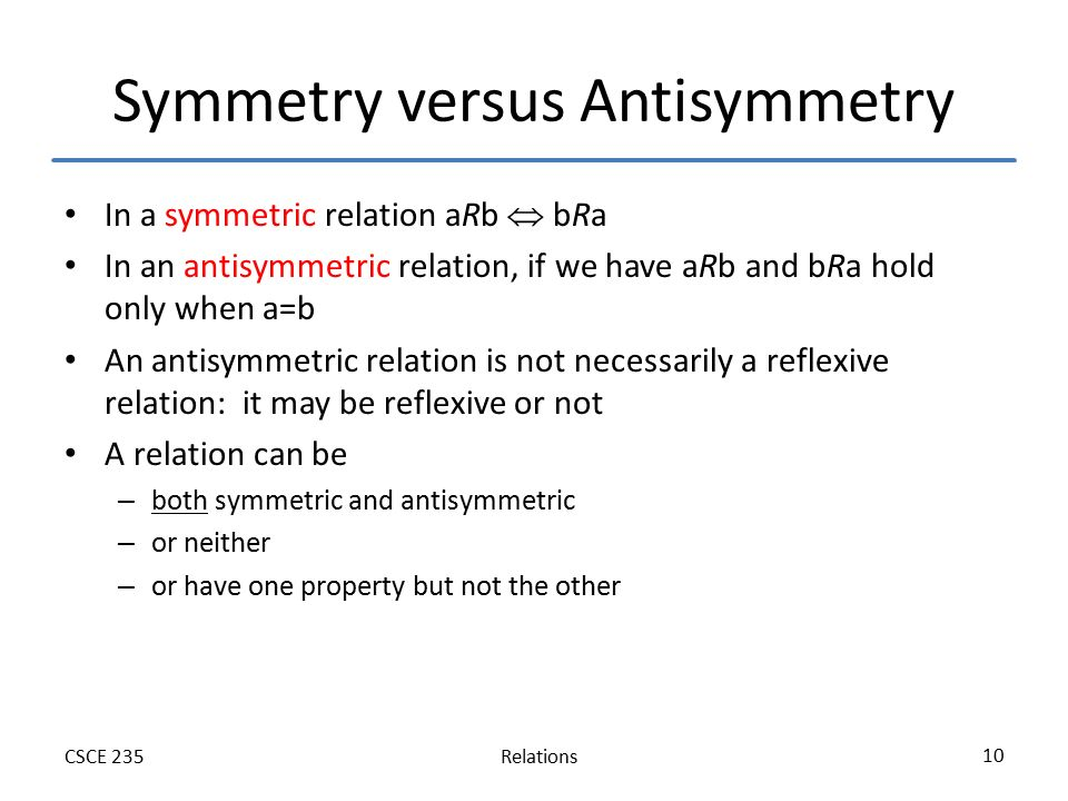 symmetry relationship definition