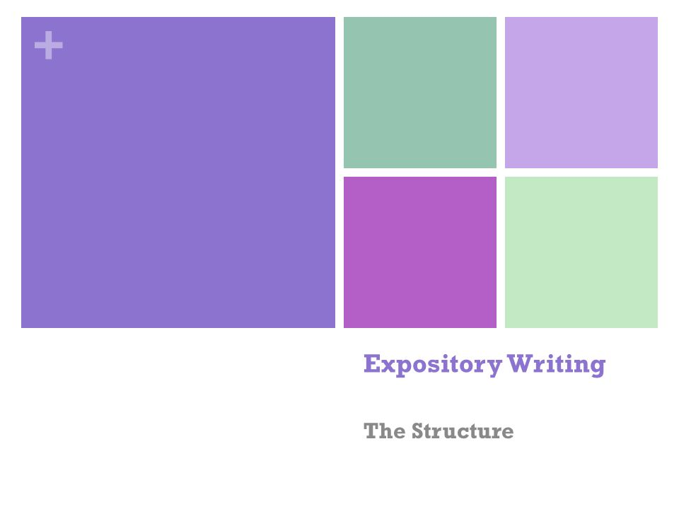 Expository essay structure