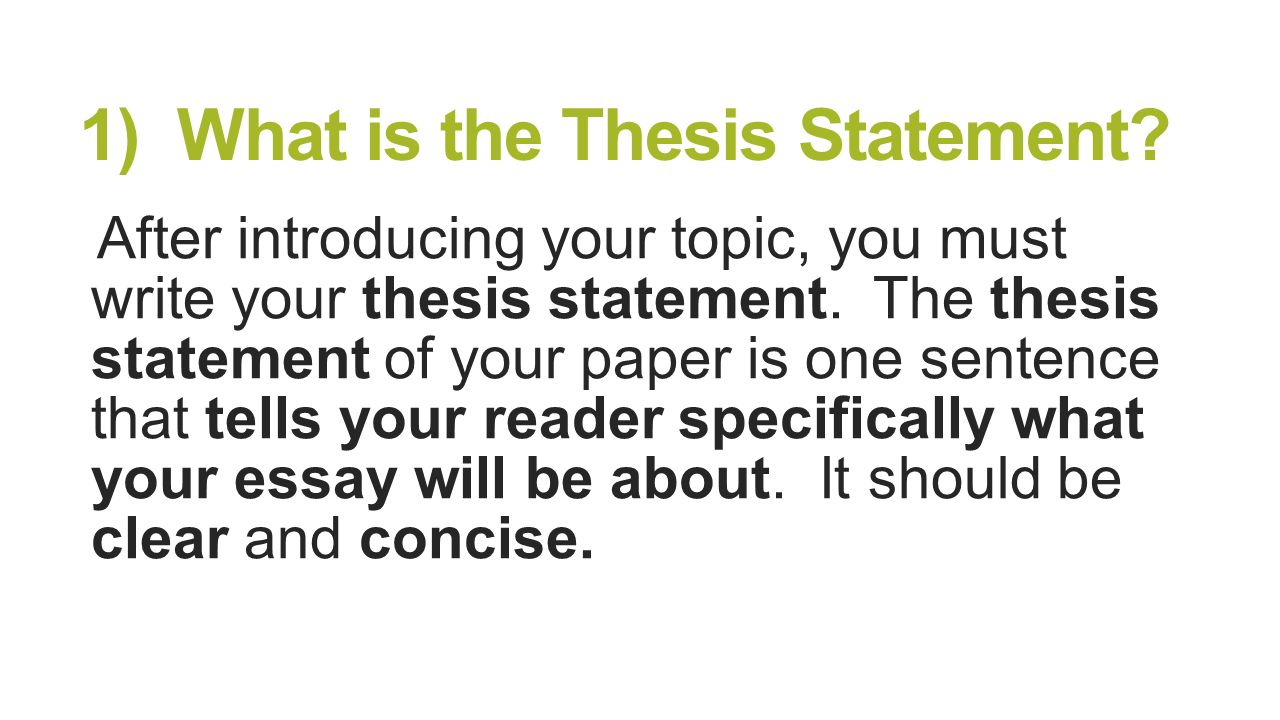 Importance of a Thesis Statement