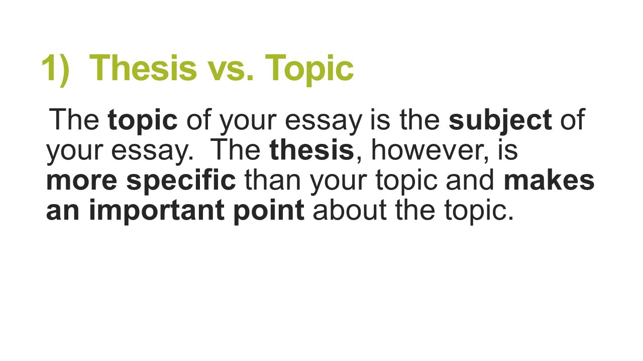 What Makes A Good Dissertation Topic?