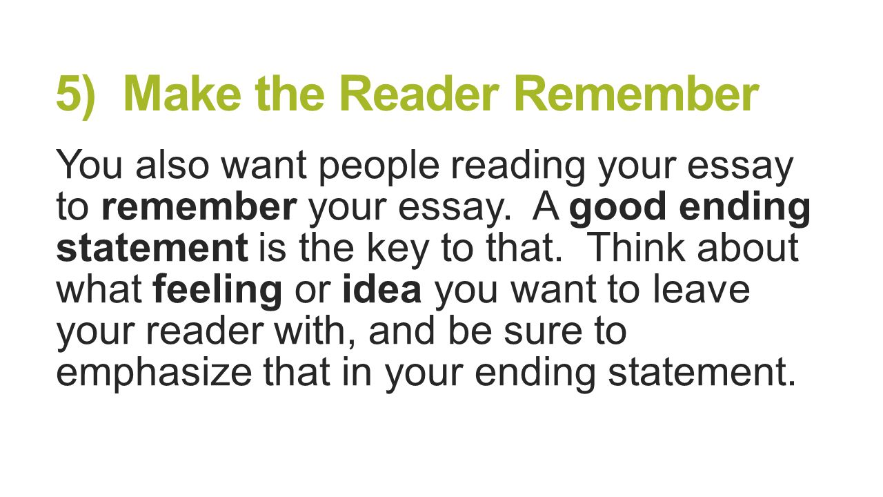remembered person essay