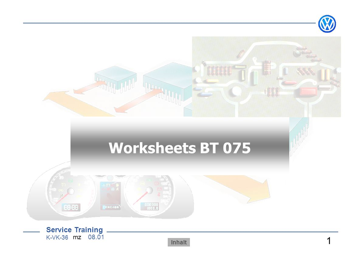 AB 070 Worksheets BT 075 Arbeitsblätter 1 Sensoren/ Aktoren - ppt ...