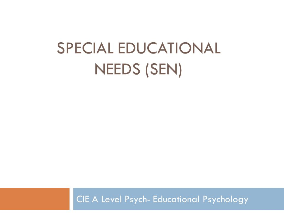 essays on special needs education Educating special needs students essayeducation of the students with intellectual disability because it makes learning.