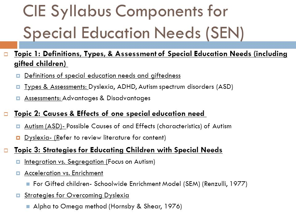 special educational needs comparative models Comparative education comparative education is a discipline in the social sciences which entails the scrutiny and evaluation of different educational systems, such as those in various countries.