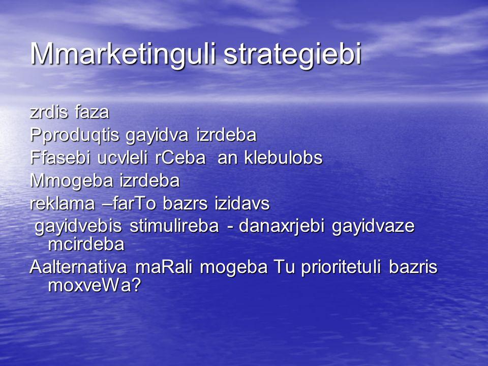 Mmarketinguli strategiebi