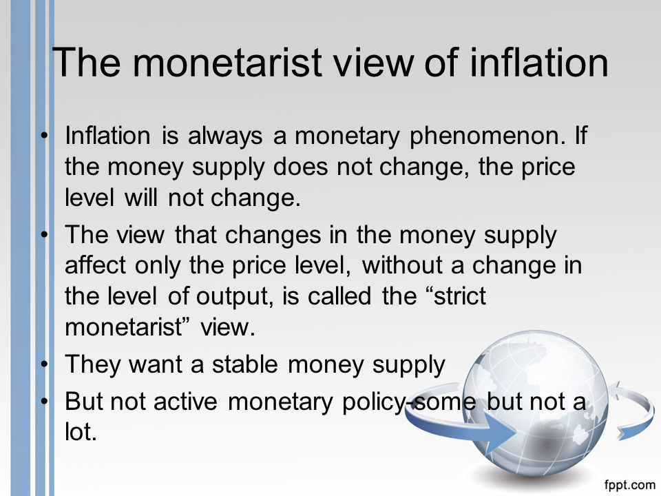 keynesian and monetarist theory of inflation In may 1979 margaret thatcher became prime minister promising to end the inflation that  monetarist policies  this second component of monetarism is one of .