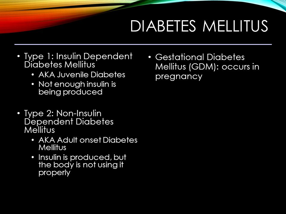 insulin dependent diabetes mellitus Insulin therapy is recommended for patients with type 2 diabetes mellitus and an initial a1c level greater than 9 percent, or if diabetes is uncontrolled despite optimal oral glycemic.