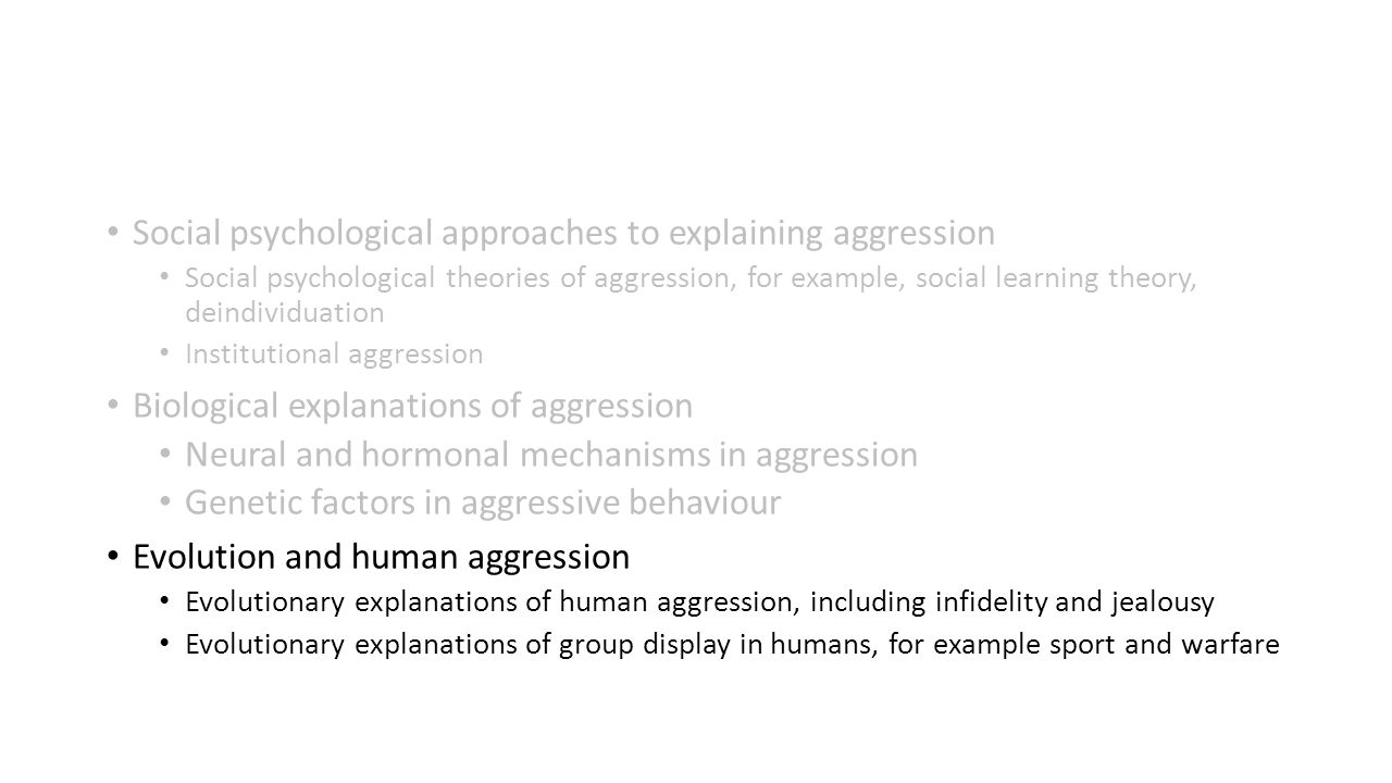 group display of aggression in humans Social psychology: aggression james  all animals display the capacity to harm or kill other  characteristics because of their membership in a specific group.
