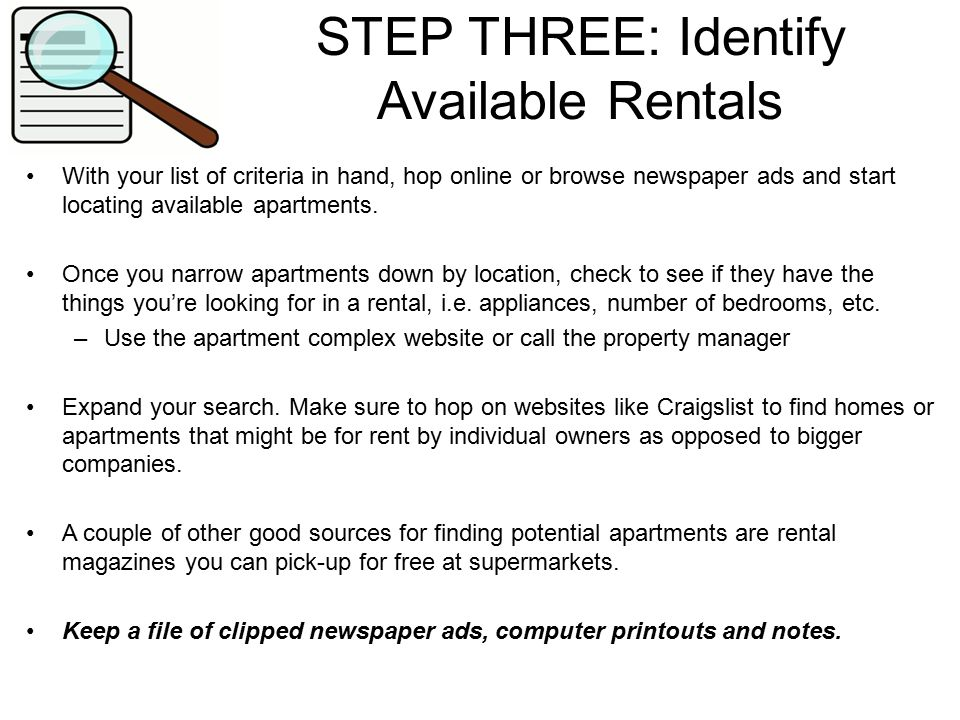 Steps To Renting An Apartment Part - 24: 4 STEP ...