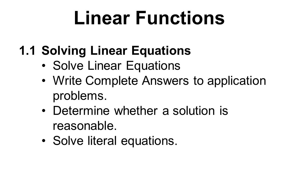 Write an equation for the linear function represented by the table