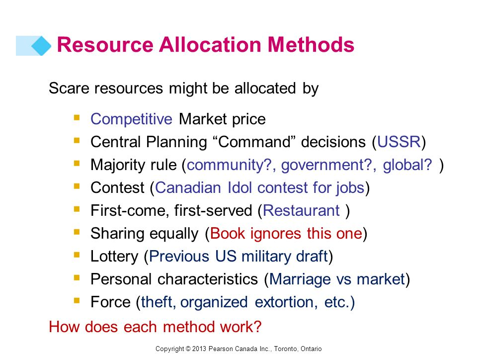 compare ways which resources allocated market and command Strategies for allocating scarce resources price/auction/market government decree/central planning/command the resource is allocated according to what the.