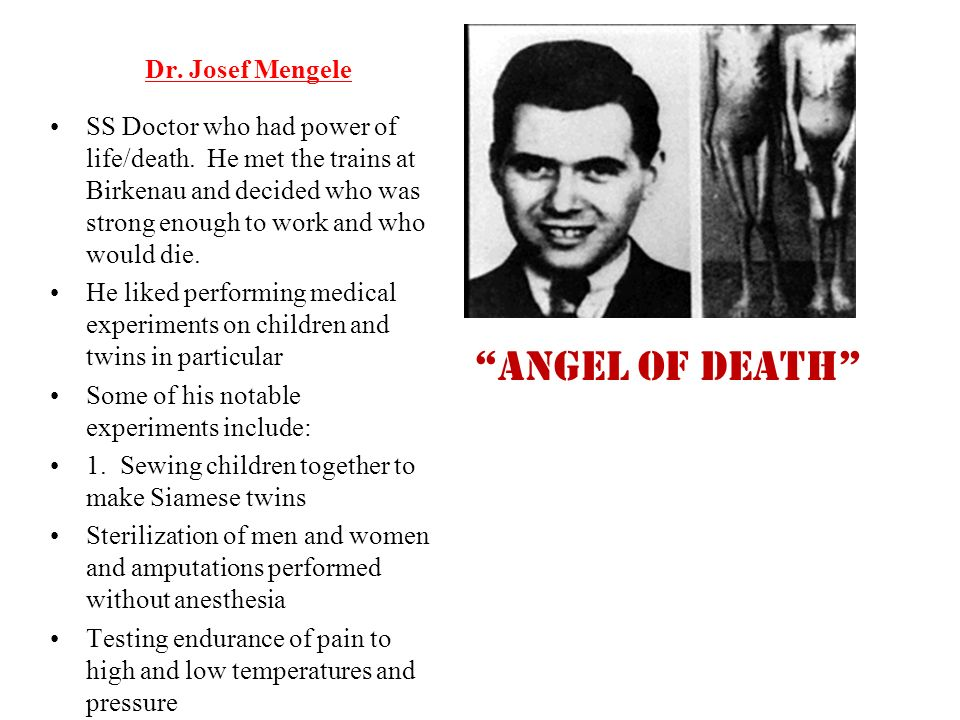 the story and the death of josef mengele A trove of documents set to be released this week reveals the schemes israel used to try to capture holocaust angel of death josef mengele mossad agents.
