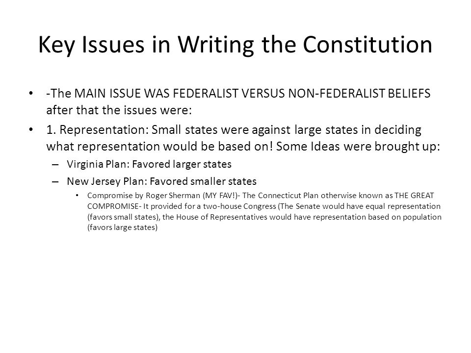 the main concerns and beliefs of anti federalists The main arguments used by the anti-federalists in the debate for the us constitution were the fact that the constitution gave too much power to the federal government and that the rights of the people were not guaranteed through a bill of rights.