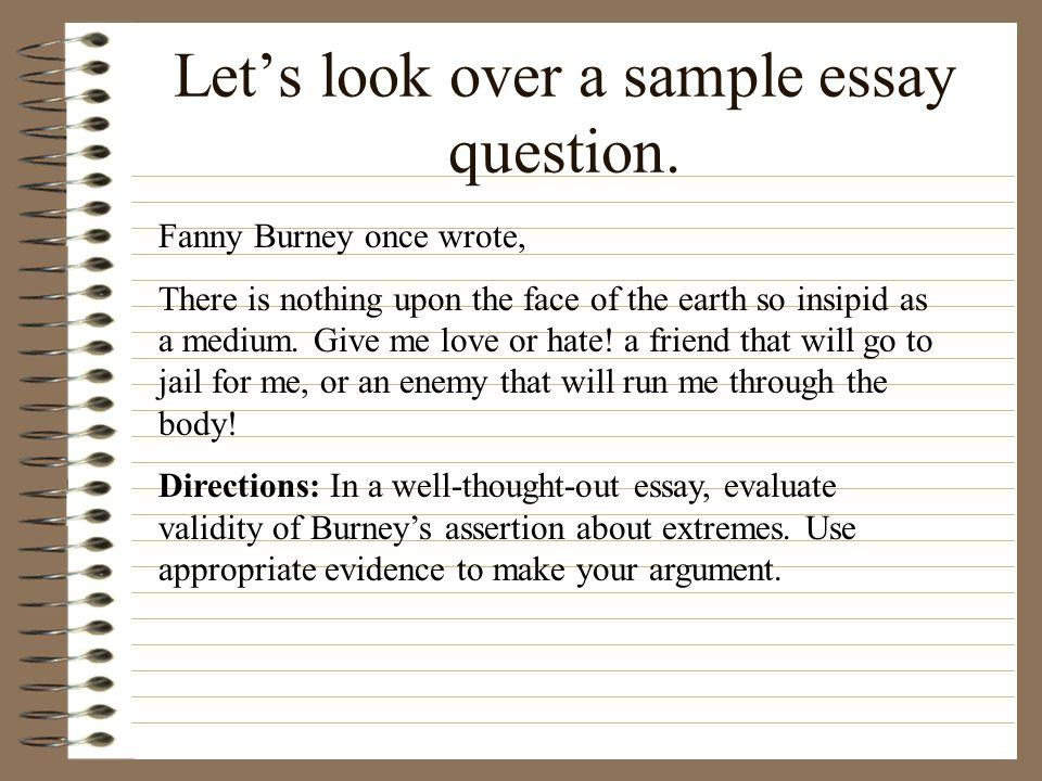 ap english language and composition ppt video online  let s look over a sample essay question