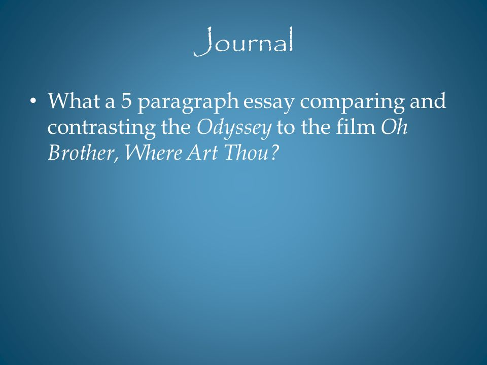 odyssey and o brother where art thou comparison essay