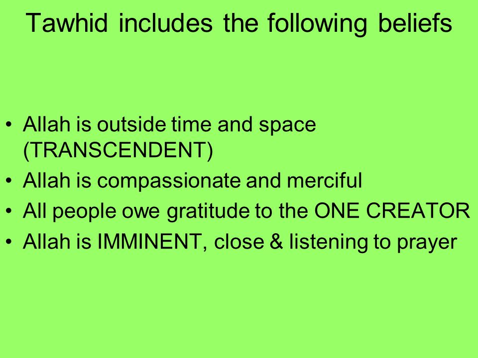 Islamic Beliefs About Creation
