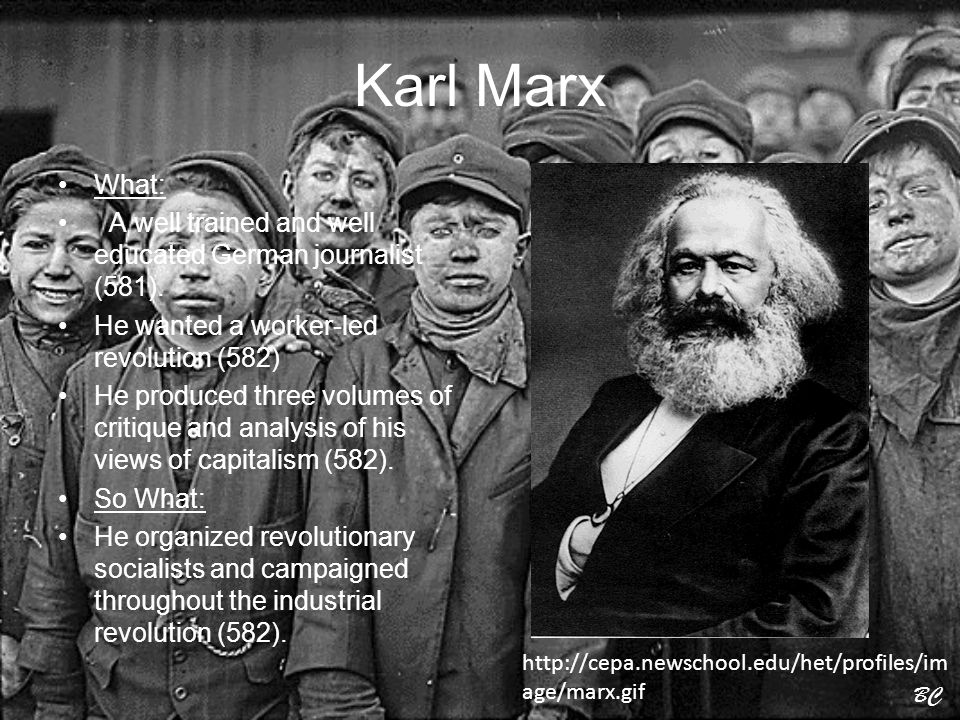 The theme of capitalism in the works of karl marx and friedrich engels