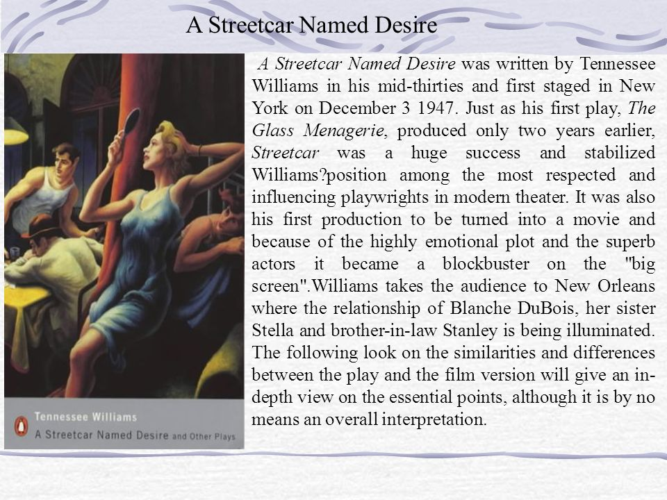 stella and blanche supreme differences between the two sisters in a streetcar named desire Analysis of the women image, blanche and stella, in tennessee williams' a streetcar named desire 2909 words | 12 pages image, blanche and stella, in tennessee williams' a streetcar named desire 1 background of analysis a streetcar named desire is a stage play that written by tennese wiliams.