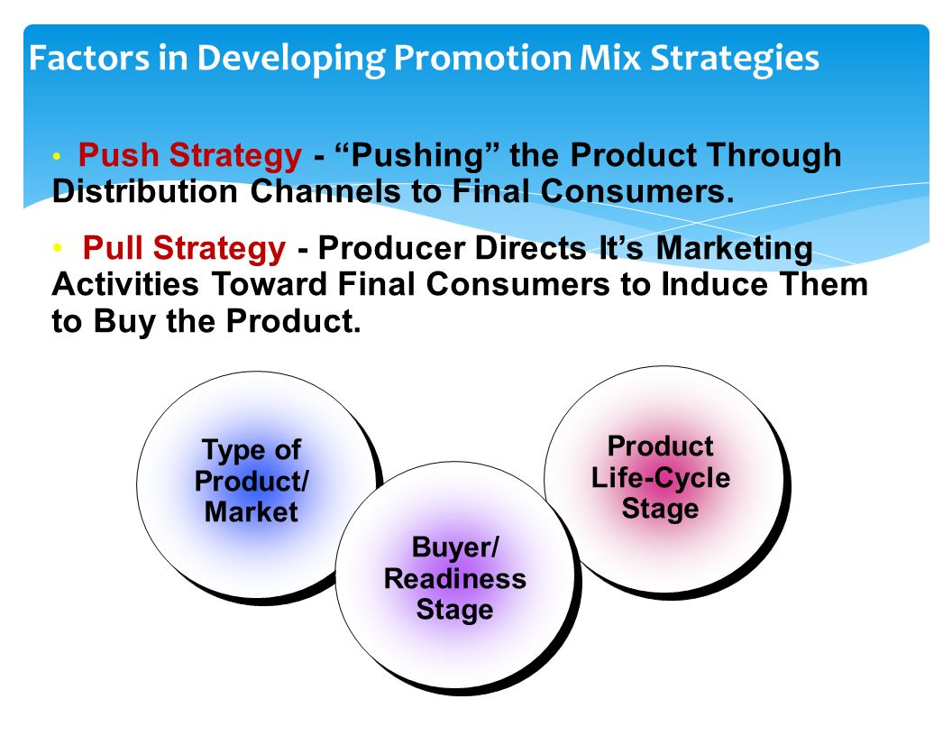 integrated marketing and the many factors Promotions in the marketing mix includes the complete integrated marketing communications which in turn includes atl and btl advertising as well as sales promotions promotions are dependent a lot on the product and pricing decision.